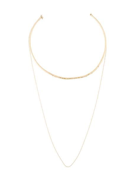 Uhuru women necklace gold grey metallic jewels