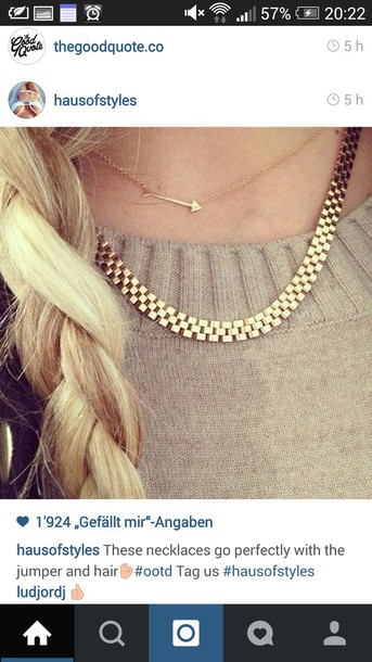 jewels gold gold necklace blonde hair