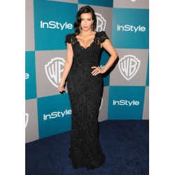 Kim Kardashian Black Lace Dress at The 69th Annual Golden Globe Awards Party