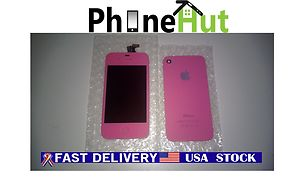 Pink iphone 4s front lcd screen and digitizer assembly with back cover color