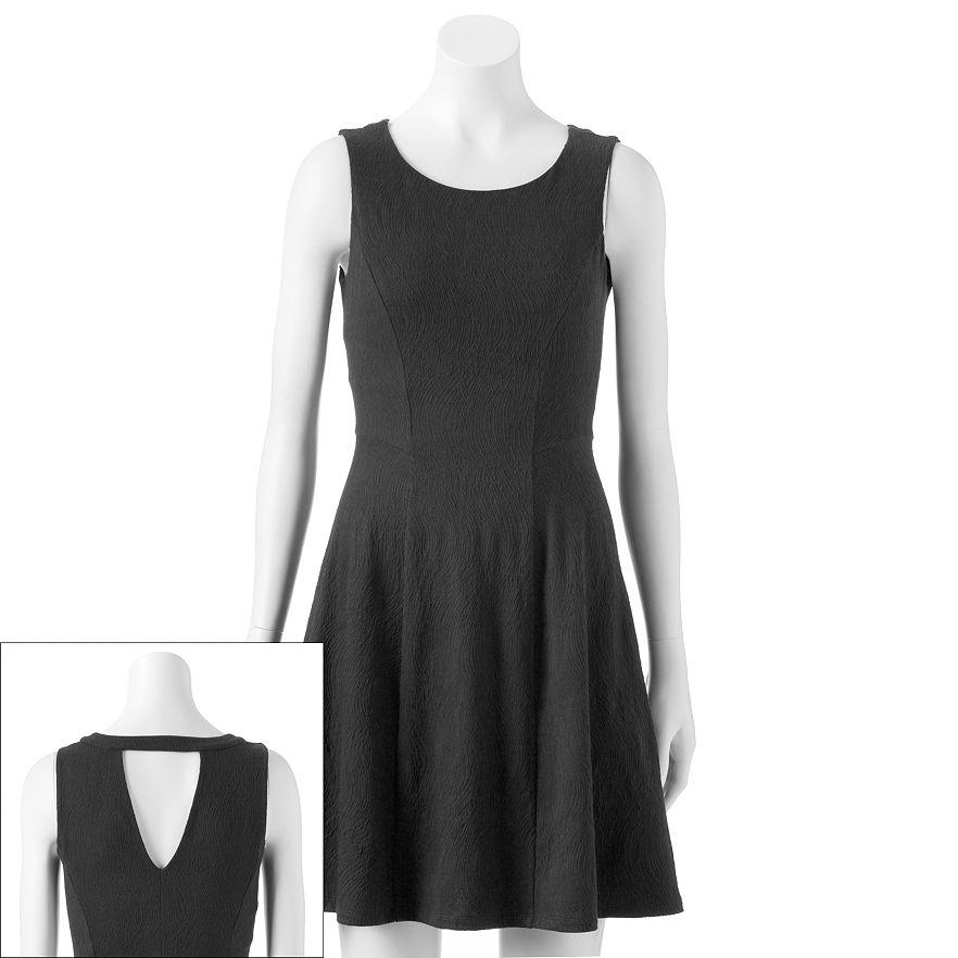 Lc lauren conrad textured fit & flare dress