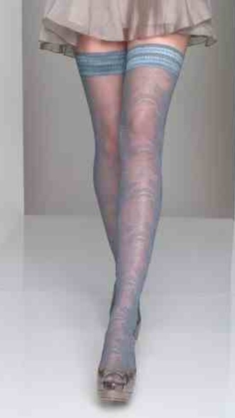 light blue stockings