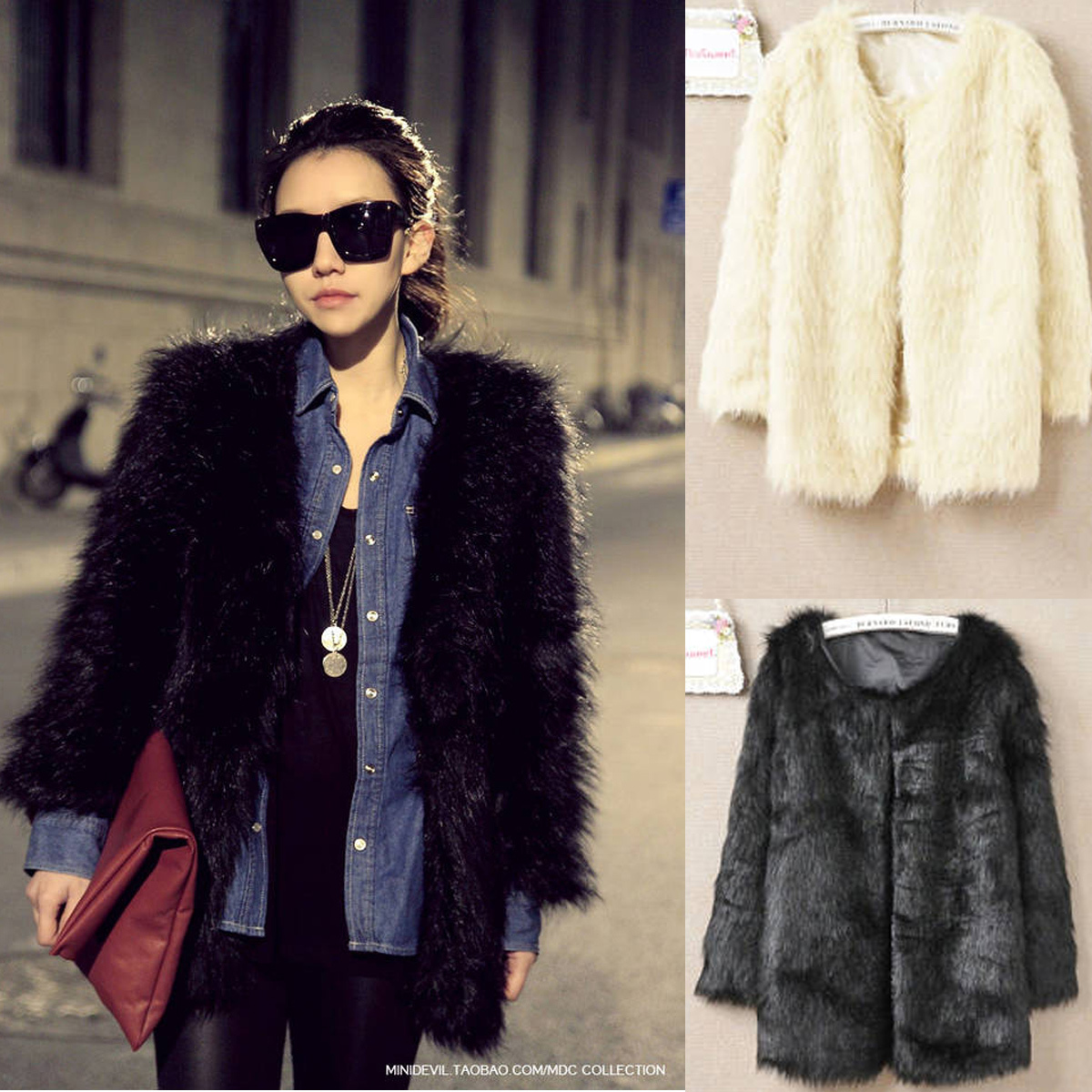 Free Shipping 2012 winter hot selling fur coat medium long Ladies' faux fur overcoat(Beige Black White S/M/L/XL)121009#11-inFur & Faux Fur from Apparel & Accessories on Aliexpress.com