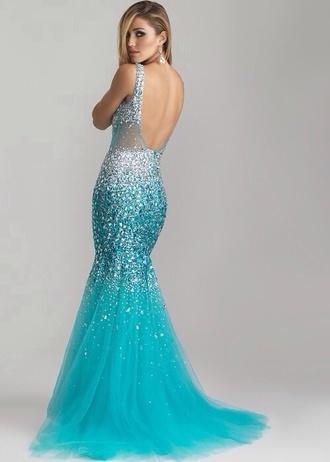 prom dress prom maxi dress mermaid prom dress sequin dress sparkle turquoise blue dress backless backless dress backless prom dress