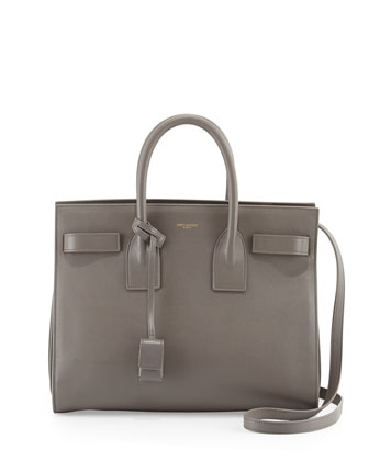 Saint Laurent Sac de Jour Small Carryall Bag, Fog - Neiman Marcus
