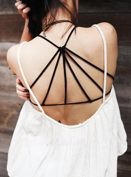 Cross Back Strappy Crop Top