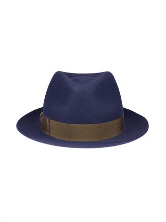 hat fedora dark blue dark blue
