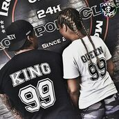 t-shirt,tees2peace,king,king and queen,king and queen shirts,gold king and queen,king and queen t shirts,