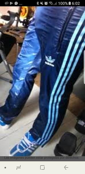 pants blue adidas joggers