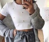 blouse,white,pearl,shirt,classy