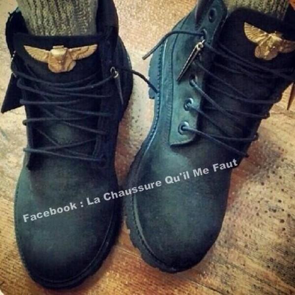 shoes boots gold timberlands black noir matte