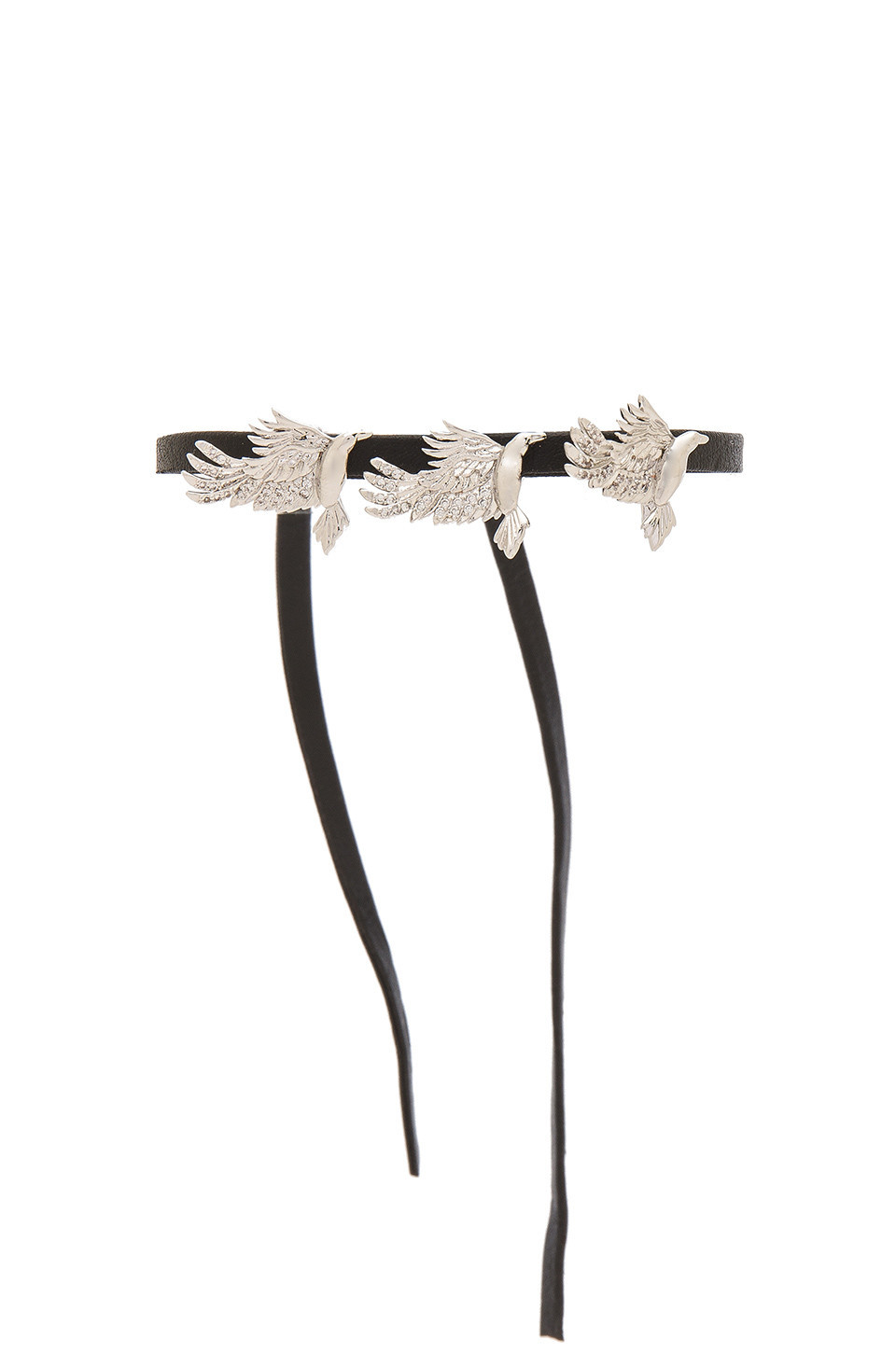 Fallon Raven Wrap Bracelet in metallic / silver