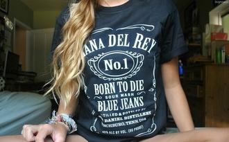shirt lana del rey concert black jack daniel's born to die printed t-shirt