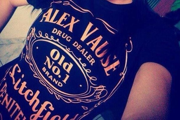 t-shirt alax vause orange is the new black jack daniel's