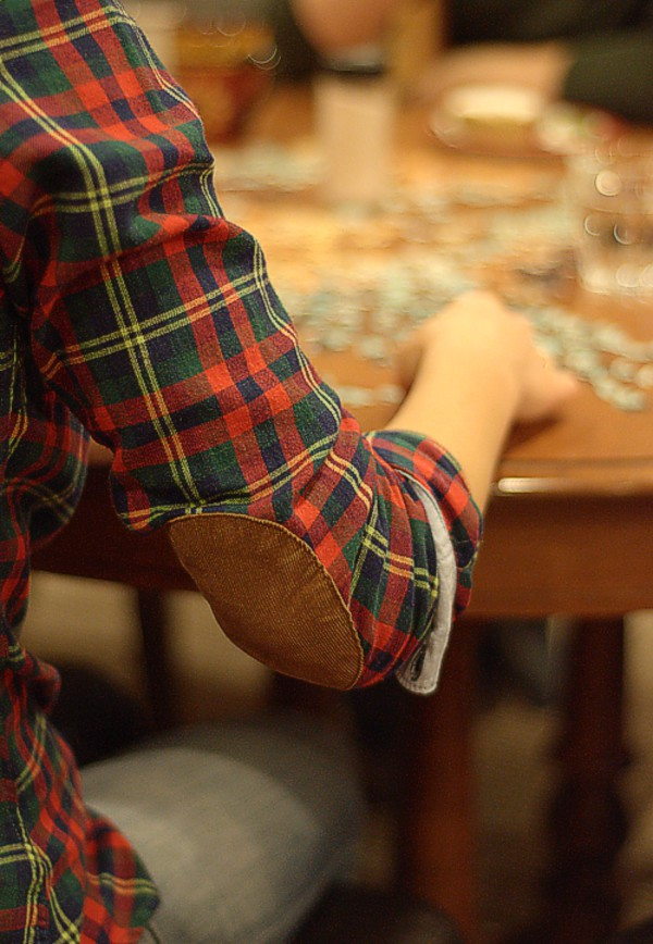 blouse clothes elbow patches flannel
