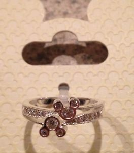 Disney jewelry couture sterling silver 925 double mickey ring size 5 6 7 8 9