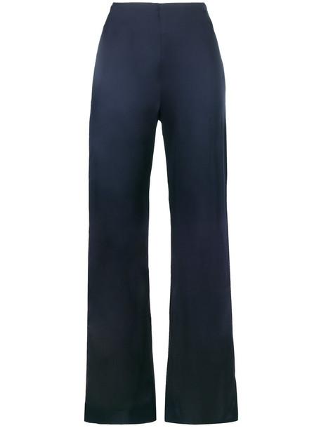 Jonathan Simkhai high waisted high women spandex blue pants