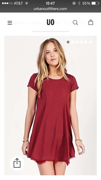 dress urban outfitters burgundy dress