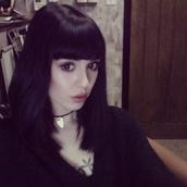jewels,necklace,choker necklace,black choker,charm choker,black sweater,hannah pixie snowdon