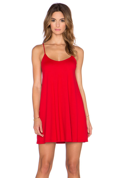 Susana Monaco dress mini dress mini v neck red