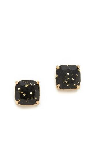 glitter earrings stud earrings black jewels