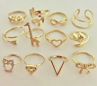 jewels gold summer diamonds arrow ring