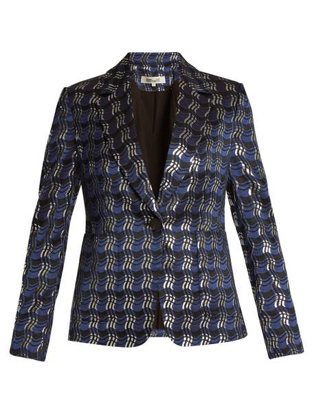 Diane Von Furstenberg jacket jacquard navy
