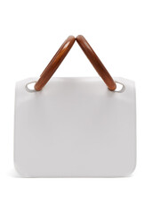 leather clutch,clutch,leather,white,bag