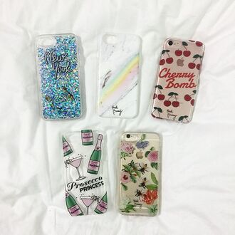 phone cover yeah bunny bee floral liquid case cover iphone8 iphone case