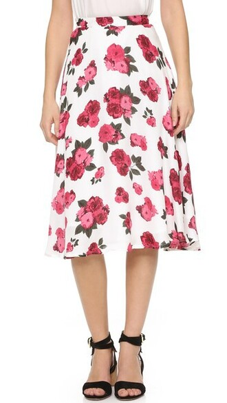 skirt printed skirt summer rose