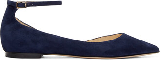 flats navy suede shoes