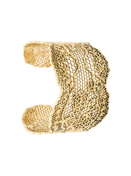 AURELIE BIDERMANN cuff women cuff bracelet gold grey metallic jewels