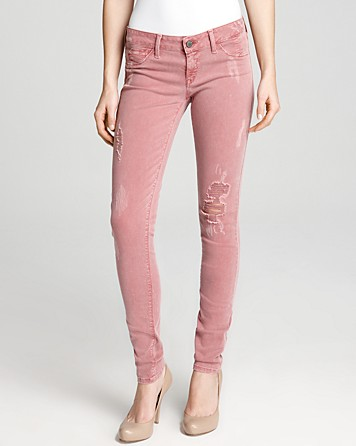 Quotation: SOLD design lab Jeans - Distressed Skinny in Red Clay | Bloomingdale's
