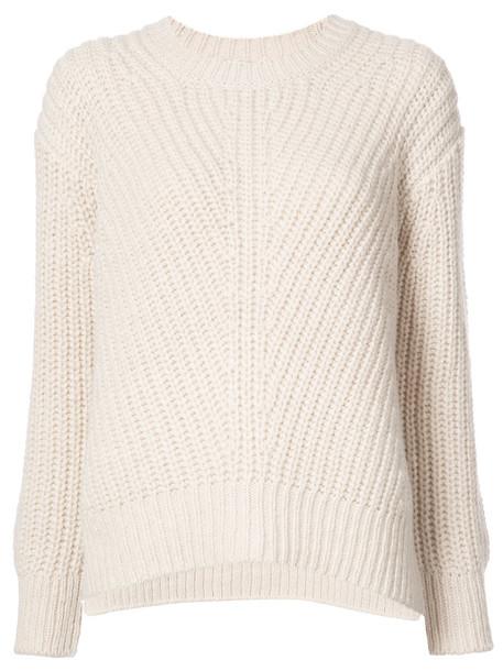 Closed top women white wool knit