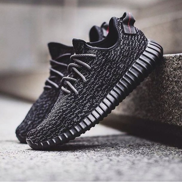Shoes: yeezy, kanye west, black sneakers - Wheretoget
