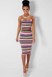 skirt,multicolor,print,midi skirt,zig zag,two-piece