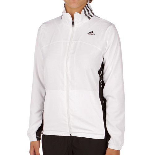 Adidas response classic women ts jacket white/black