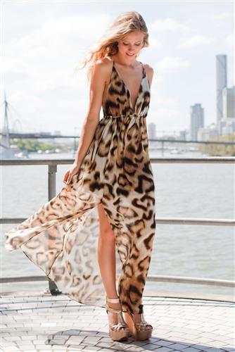 Shop Fashion Avenue - Leopard Maxi Dress