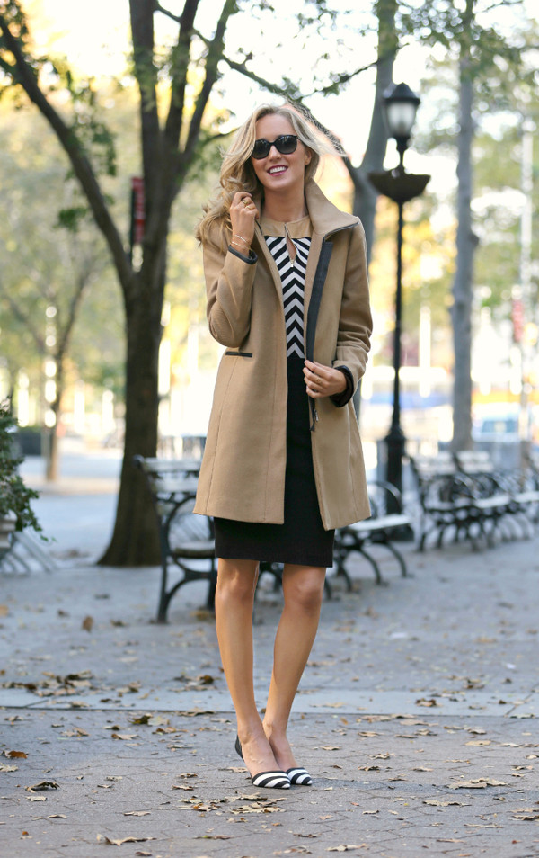 the classy cubicle t-shirt coat skirt shoes jewels sunglasses