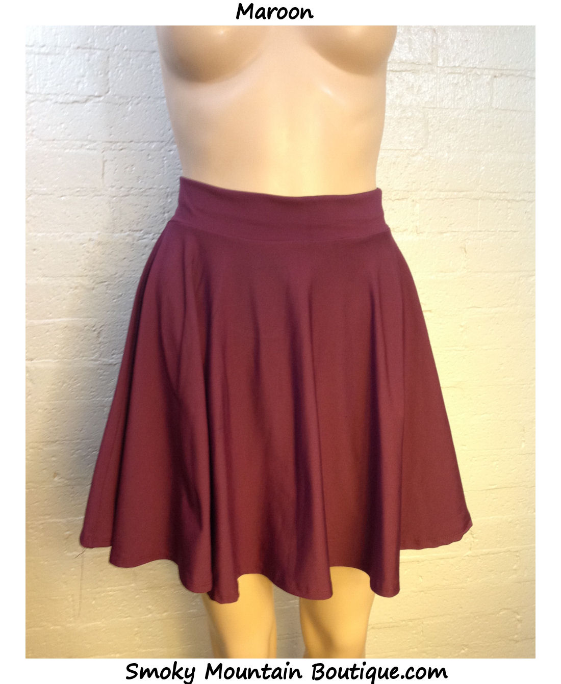 Sexy womens stretch waist pleated jersey skater mini skirt in solid colors