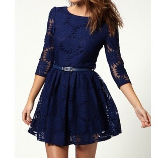 blue dress dress fashion style prom dress lace dress cute doublelw girly clothes