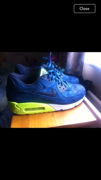 navy nike air max 90 running shoes suede