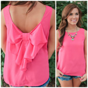 top,coral,bow back