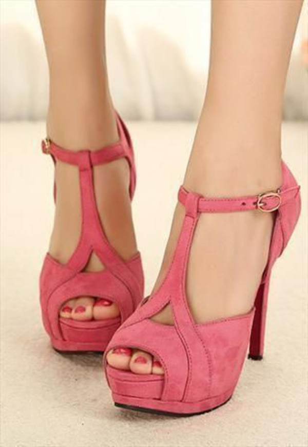 shoes pink high heels spring summer
