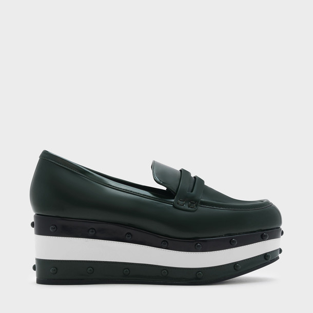 loafers green shoes