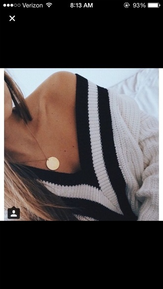sweater oversized sweater cardigan black and white