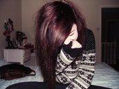 black sweater,fair isle,knit,jumper,sweater