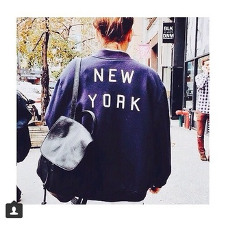jacket bomber jacket new york city dope indie grunge hipster graphic jacket instagram vogue