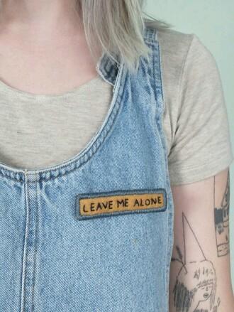 shirt top grunge pale overalls vintage denim dress quote on it pale grunge denim shirt jumpsuit