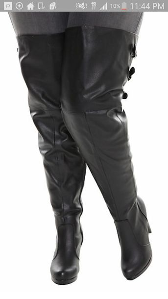 shoes black thigh high boots plus size curvy fashion